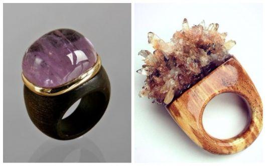 Anéis de madeira.