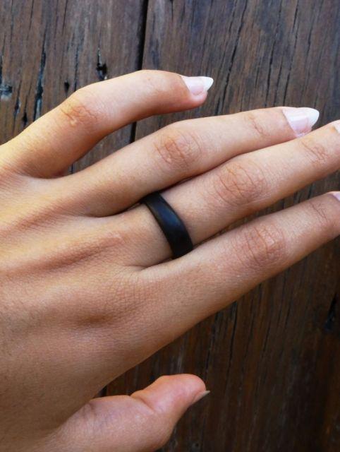 anel de coco marrom