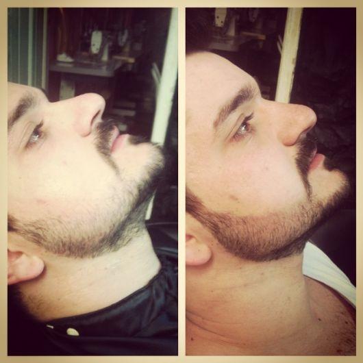 Linhas retas e barba bem aparada