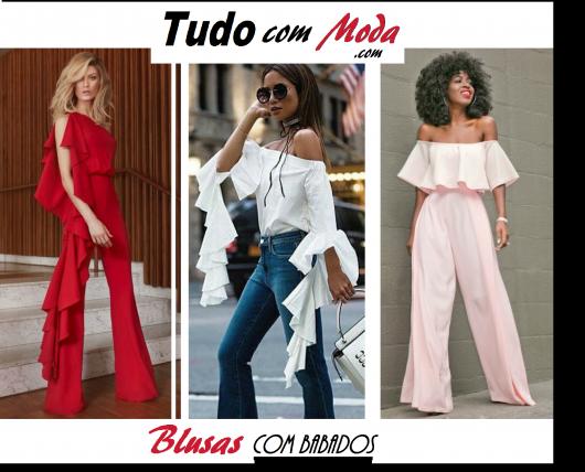 Blusa com Babado – 48 Modelos PERFEITOS para Você se Apaixonar!
