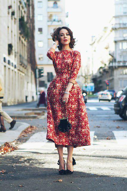 look vestido floral