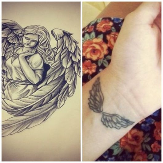 Tatuagem de anjo.