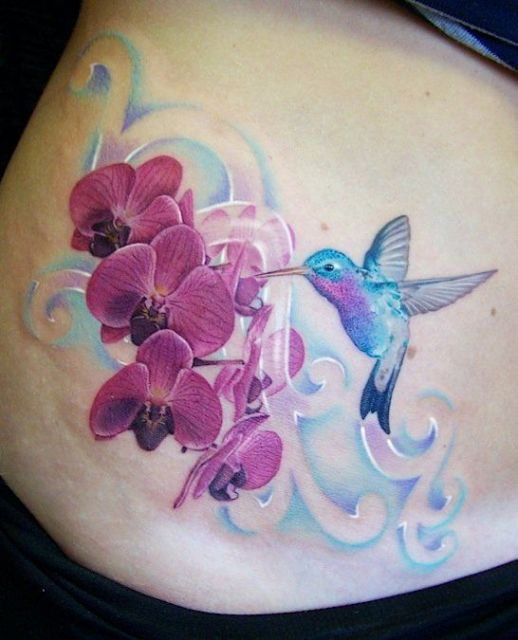 tatuagem orquídeas