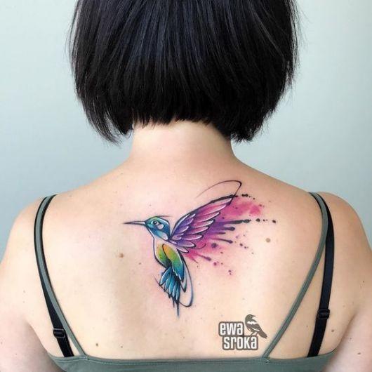 tatuagem colorida delicada