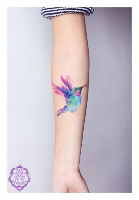 tatuagem aquarela braço