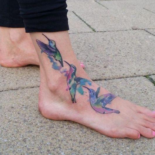 tatuagem grande pé