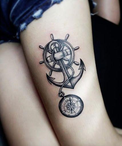 Tatuagem de âncora.