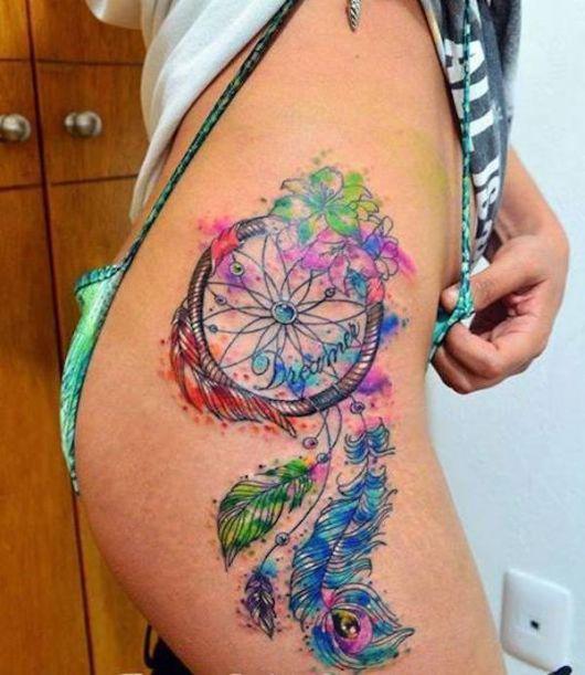 Tatuagem aquarela.
