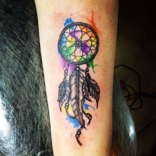 Tatuagem filtro dos sonhos.