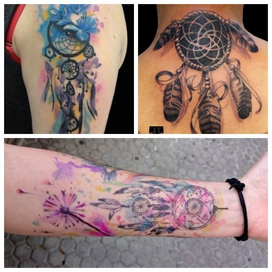 Tattoo filtro dos sonhos masculina.