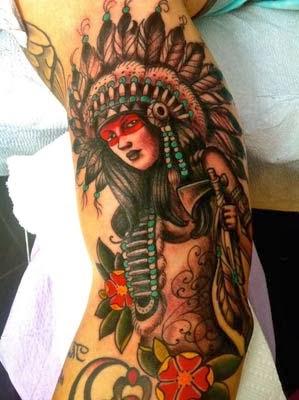 tatuagem índia