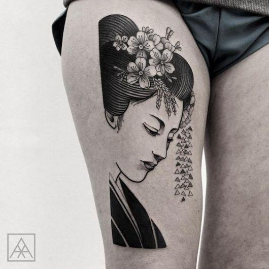Tatuagens e seus significados os significados incrveis de tattoo a tattoo de gueixa traz simbolismo de fora e inteligncia thecheapjerseys Images