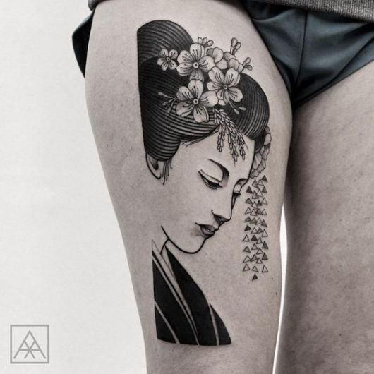tatuagem gueixa