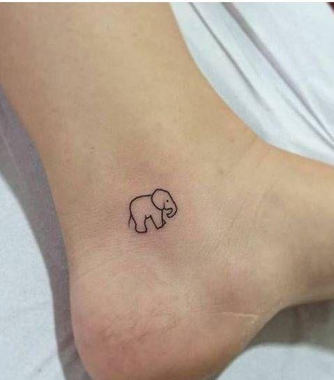tatuagem delicada elefante