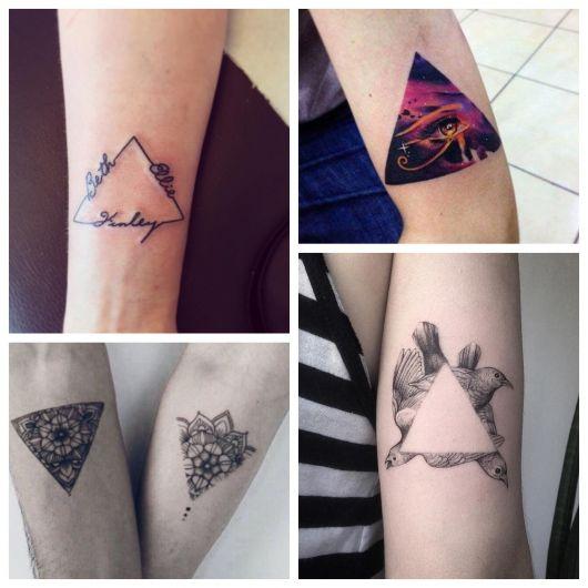 Tatuagem de Triângulo: Significado + 80 ideias para todos os gostos!