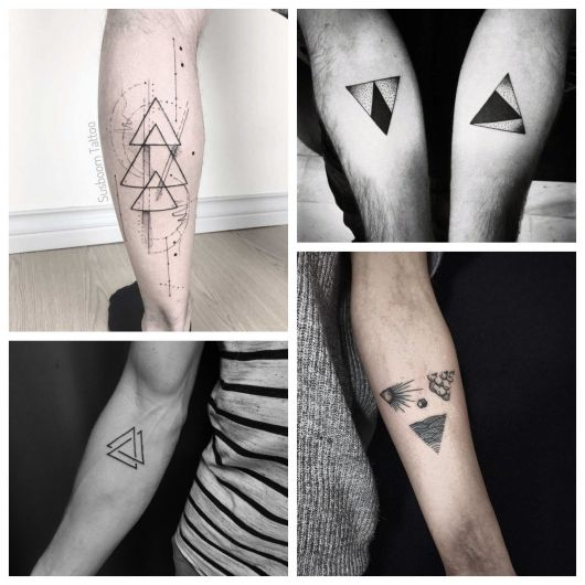 tattoo de triângulo