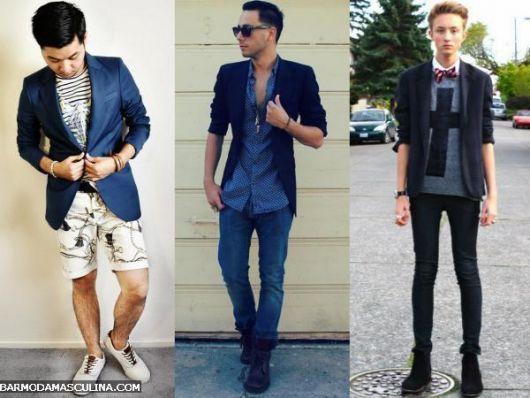 blazer masculino slim azul