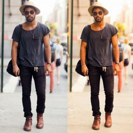 bota cano curto masculina estilo swag