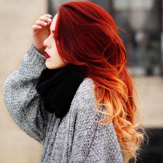 cabelo ombré fire