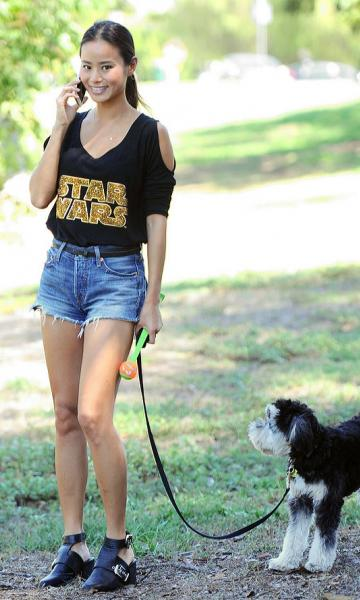 shortinho com camiseta star wars feminina