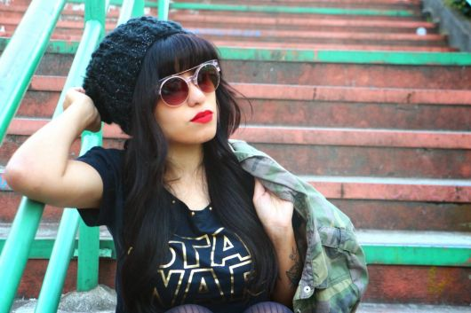 camiseta star wars feminina com casaco