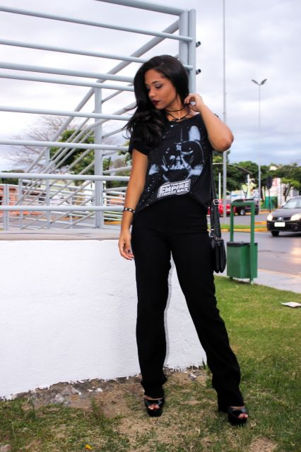 camiseta star wars feminina do darth vader