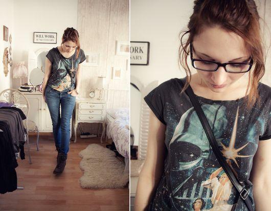 camiseta star wars feminina com calça e bota