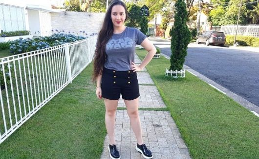 camiseta star wars feminina com short preto