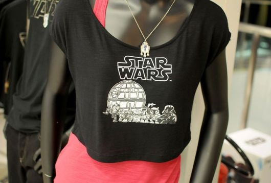 camiseta star wars feminina curtinho