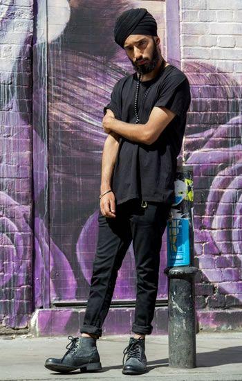 turbante preto masculino
