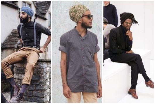 ideias de look com turbante masculino