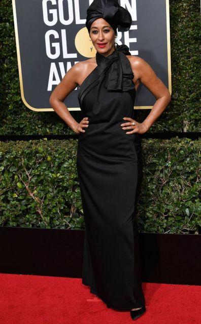 look com vestido longo preto