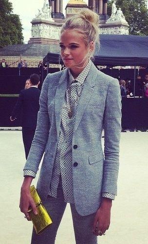 look com blazer cinza