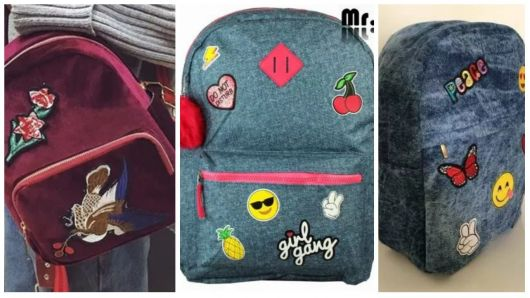 diversas mochilas com patches