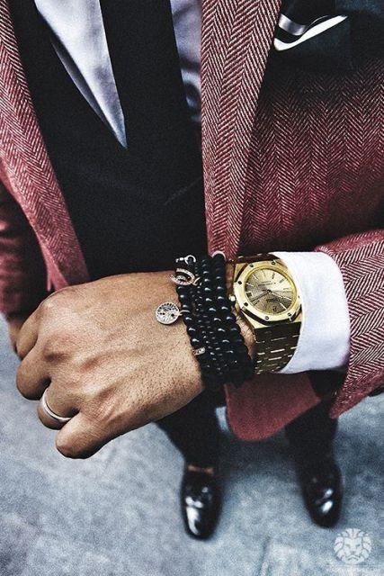 relógio dourado masculino