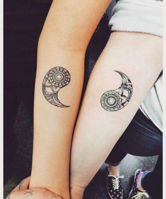 tatuagem yin yang