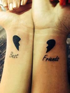 tatuagem coração que se completa