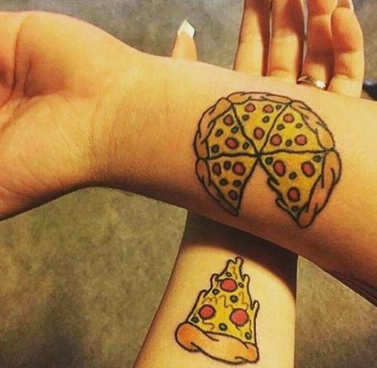 tatuagem pizza