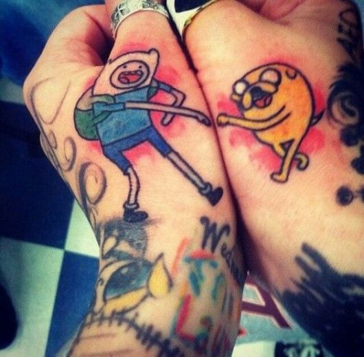 tatuagem divertida masculina