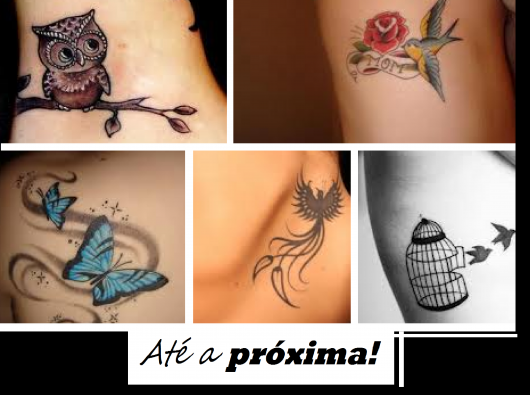 Ilustração final do post com fotos aleatorias de mulheres com tatuagens na perna.
