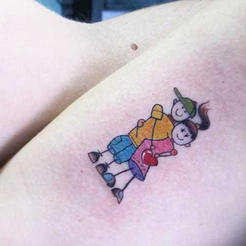 tatuagem para filhos casal