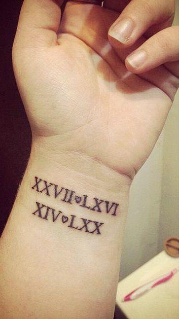 tatuagem para filhos no pulso