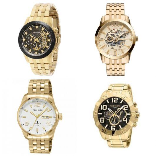 relógio dourado da Technos
