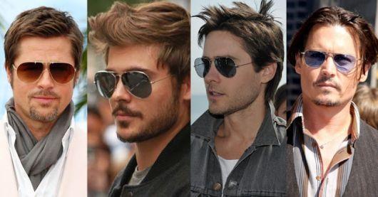 Modelos usam óculos de sol ray ban diferentes cores.