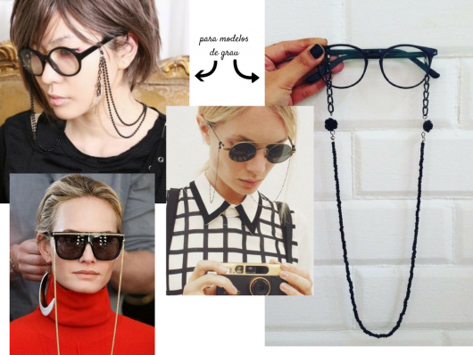 86f3989ca86e4 Como Usar Corrente para Óculos – 40 Modelos e Inspirações Lindíssimas!