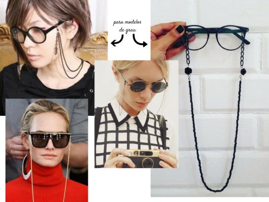 Modelos de corrente para óculos de grau.