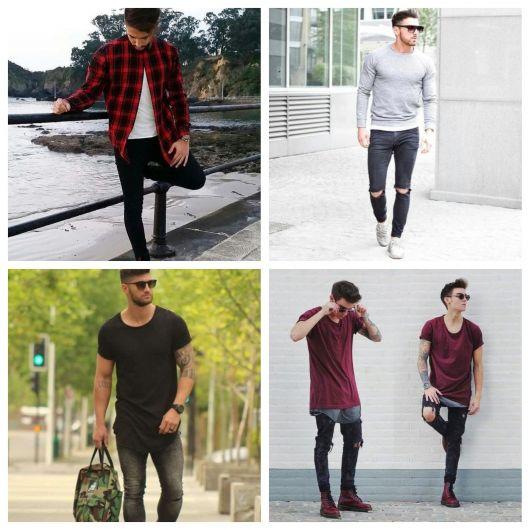 calça preta masculina
