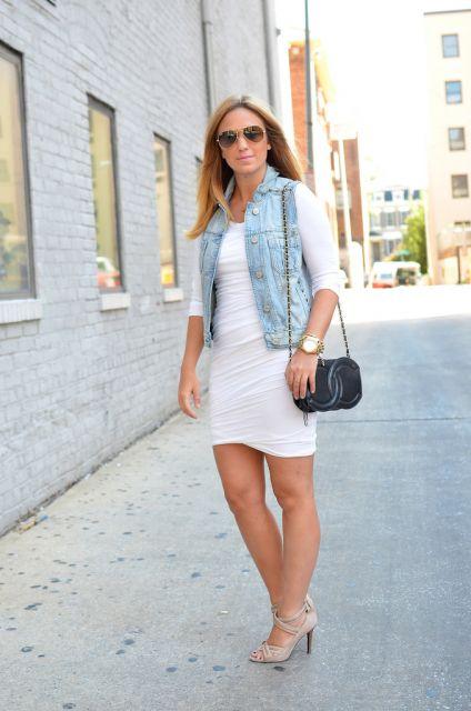 Colete Jeans Com Vestido Mais De 20 Looks E Dicas Incríveis