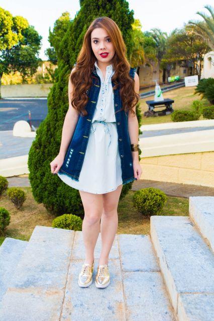 Colete Jeans com Vestido: Mais de 20 looks e Dicas Incríveis!