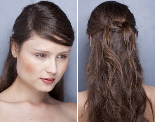 Penteados para Festa cabelo liso meio preso